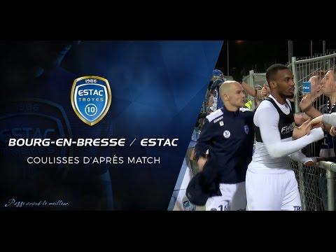 Bourg en bresse estac l 39 apr s match youtube for Match estac