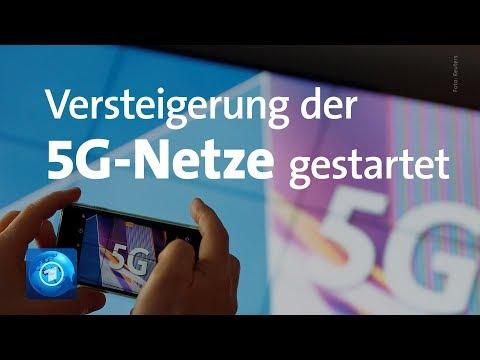 Versteigerung der 5G-Frequenzen gestartet