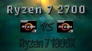 ryzen 7 2700 vs Ryzen 7 1800X Benchmarks  Gaming Tests Review & Comparison