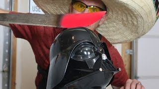 Glowing 1000 degree MACHETE vs Darth Vader! I set My microwave on fire! Hot Knife test/ Family vlog
