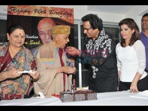 Khayyam Saab Celebrating His 90th Birthday With Talat Aziz & Bina Aziz