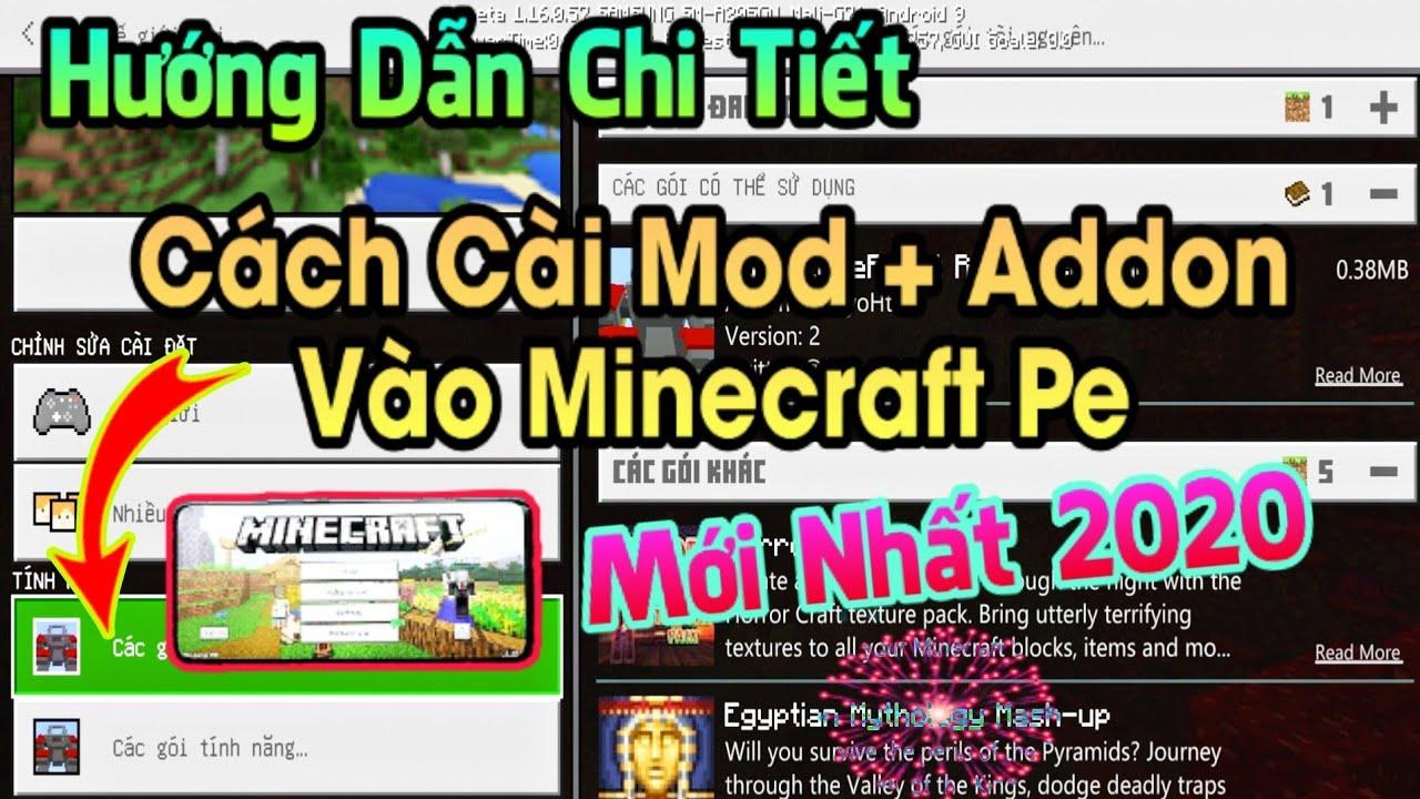Hướng Dẫn Cài Addon Vào Tất Cả Phiên Bản Minecraft Pe Trên Điện Thoại Mới Nhất Năm 2020