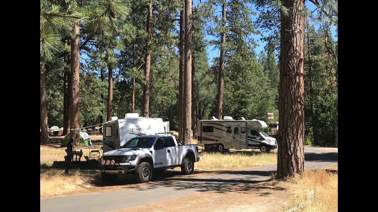 Drive inside wawona campground yosemite national park for Yosemite park camping cabins
