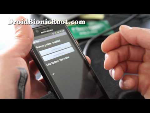 How to Install SafeStrap Recovery on Rooted Droid Bionic!