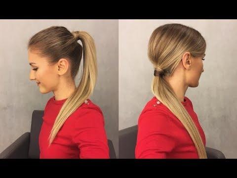 Proste Fryzury Kucyk Simple Hairstyles Ponytail