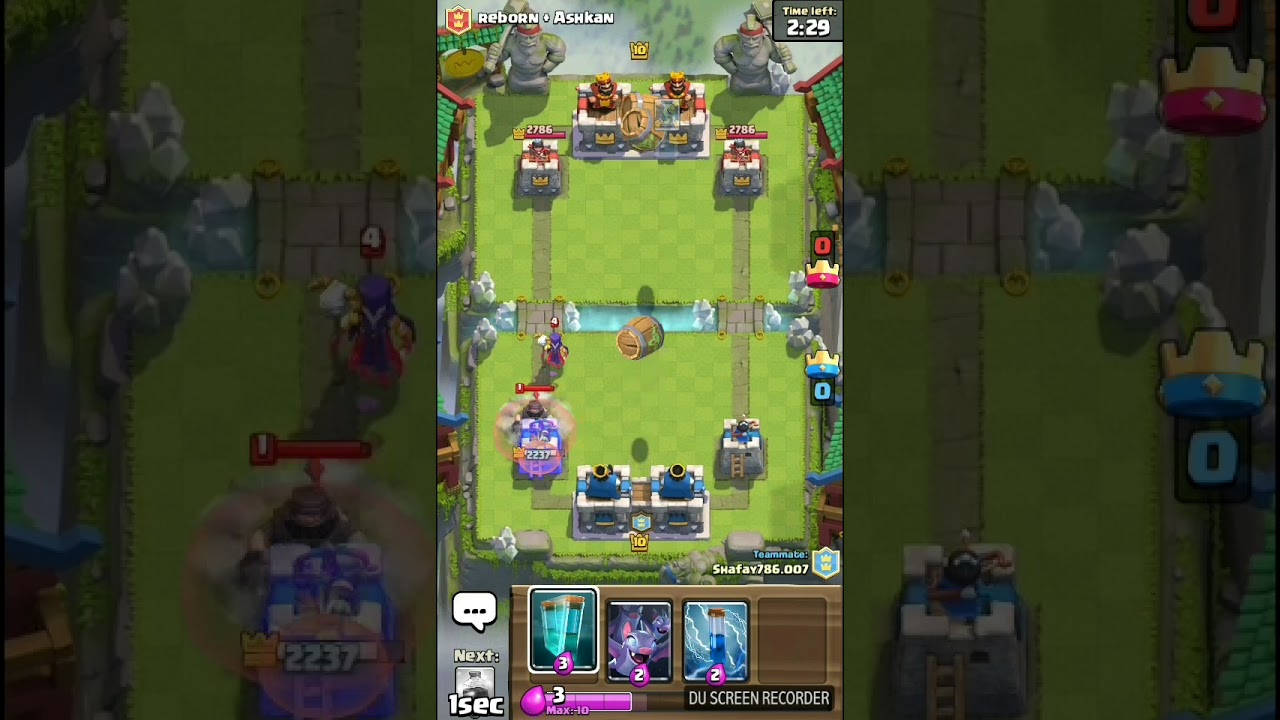 Goblin Barrel Combo in Clash Royale.2v2