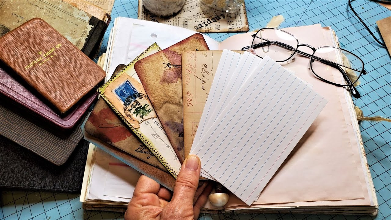 GOT INDEX CARDS? Create Easy Journal Cards for Your Junk Journal! The Paper Outpost:)