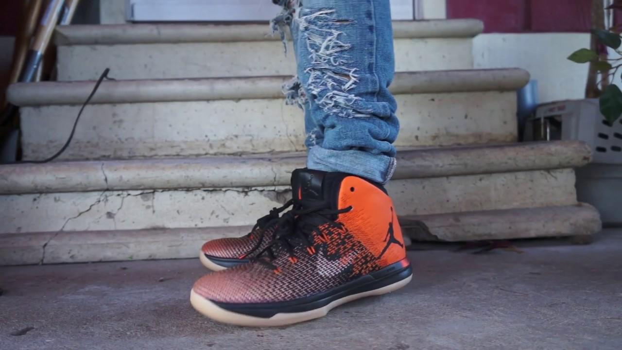 online retailer f53ff 6d42e Air Jordan XXX1 Shattered backboard On Foot