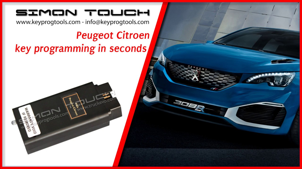 Peugeot Citroen V2 Key Programmer from Simon Touch