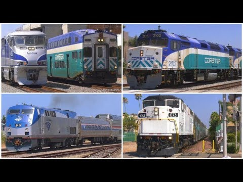 4K | Trains in Oceanside, CA