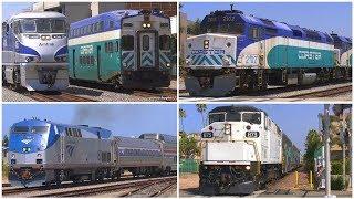 4K | Trains in Oceanside, CA