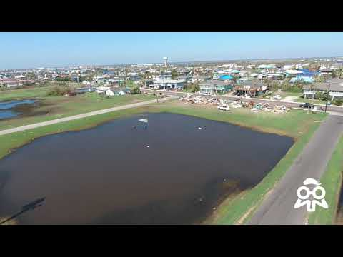 Hurricane Harvey Damage Recorded by Drone in Port Arkansas