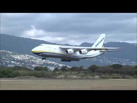 Landing Antonov AN-124 Design Bureau (UR-82073) @ Roland Garros Airport