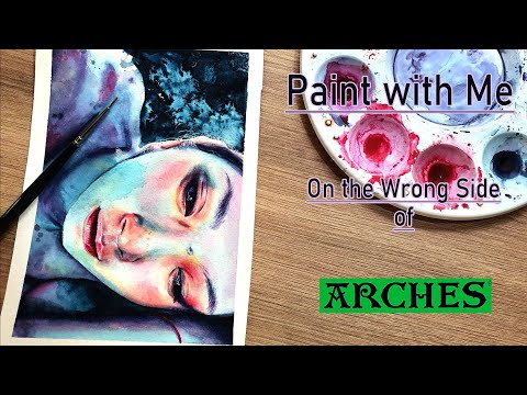 How to Paint Textures + Painting the Back of Arches Watercolor Paper | Noes Art