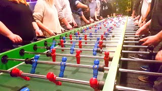 Funny Playing Biggest Foosball Table Football [Try not to laugh]
