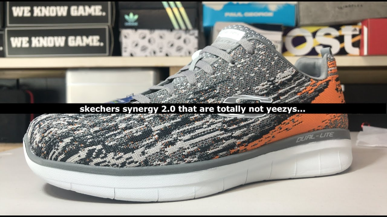 Unboxing The Skechers Synergy 2.0 That Is Not Unlike The Beluga Yeezys  (Right...)