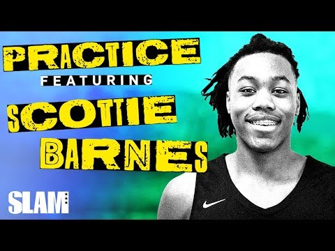 Scottie Barnes Was TALKING SMACK While Mic'd Up! 🗣 | SLAM Practice