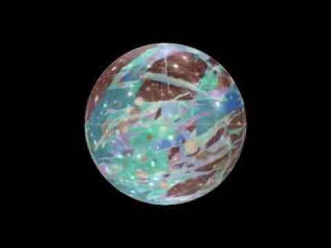 Rotating Globe of Ganymede Geology