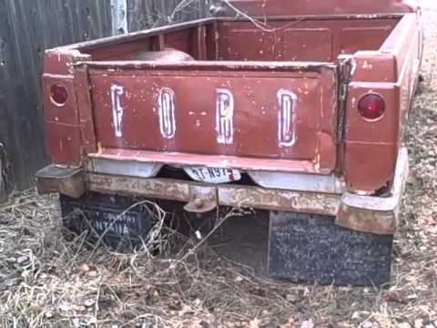 1960 Ford F 100 4x4 For Sale On Missoula Montana Craigslist Video 2