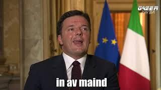 """Intervista """"SHOCK"""" di Matteo Renzi per la BBC - Con sottotitoli"""