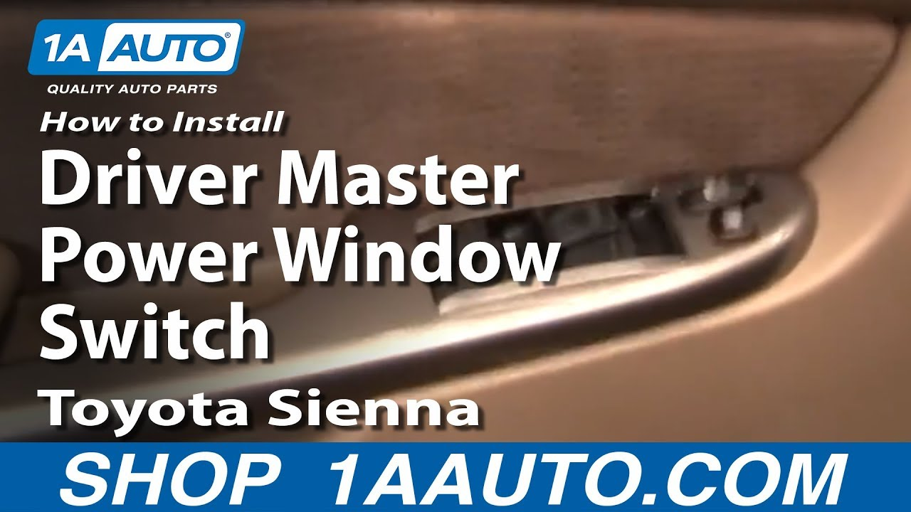 How To Install Replace Driver Master Power Window Switch Toyota Sienna 04-10 1AAuto.com - YouTube