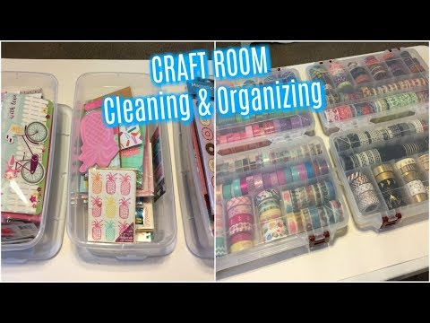 CRAFT ROOM | CLEANING & ORGANIZING | Getting ready for 2018 Planning
