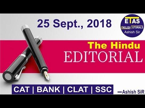 25 September,2018 The Hindu Editorial