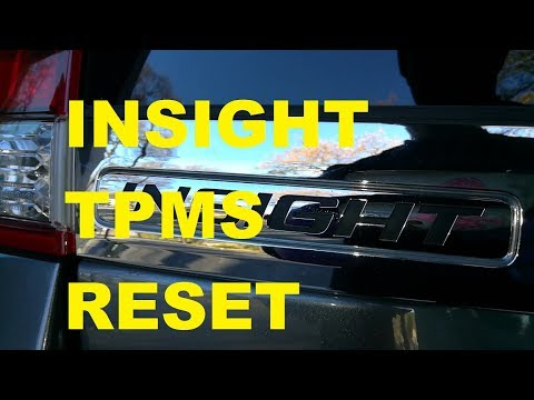 ▶️2010 to 2014 Honda Insight Tpms Reset (TIRE PRESSURE MONITOR SYSTEM) w/ Proof + Help Tips