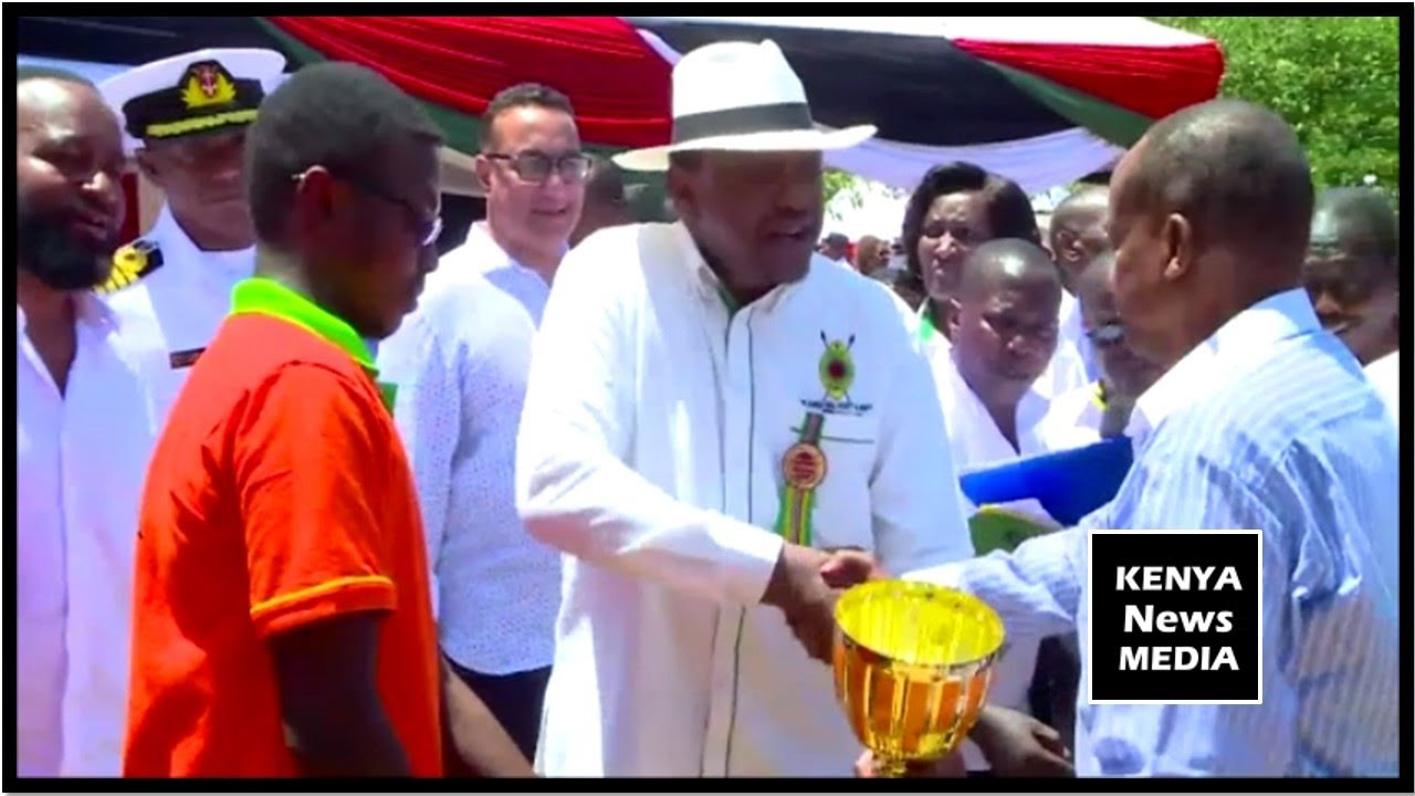 PRESIDENT UHURU KENYATTA PRESIDES OVER COW AUCTION AT ASK MOMBASA