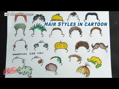 DIY How To Draw Cartoon Hairstyles | JK Arts 721