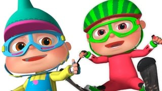 Five Little Babies Skiing On Snow | 5 Little Babies | Nursery Rhymes For Babies