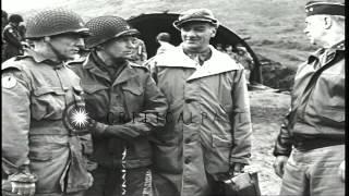 Brigadier General speaks to staff at Adak in Aleutian Island, Alaska HD Stock Footage