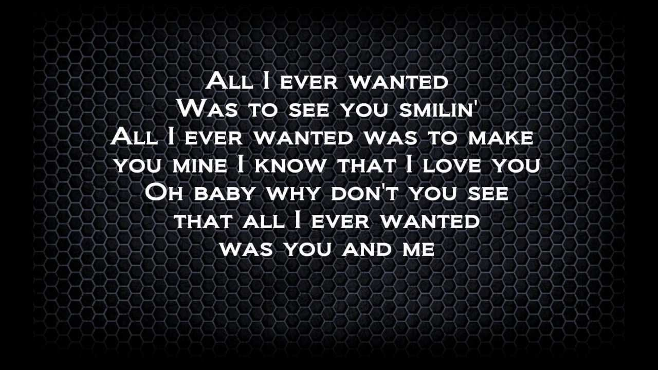 PARAMORE - ALL I WANTED LYRICS