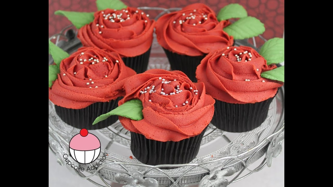 Rose Cupcakes Decorate Buttercream Rose Swirl Cupcakes A Cupcake