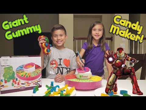 GIANT GUMMY CANDY MAKER with Marvel Super Hero Gummies MESSY FAIL
