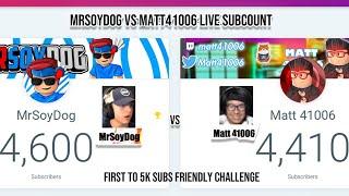 🔴MySoyDog Vs Matt 41006 Sub Count🔴  ROBLOX GIVEAWAY!   Roblox Livestream  Family Friendly Streamer