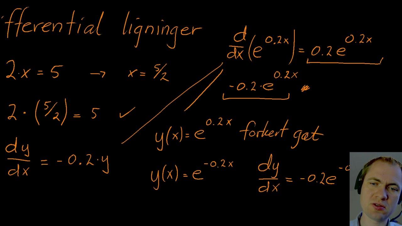 Differentialligninger - hvad er det
