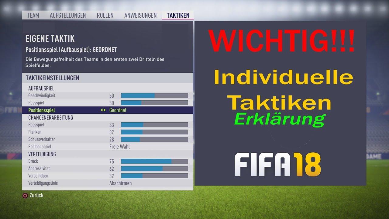 Fifa 18 Individuelle Taktik