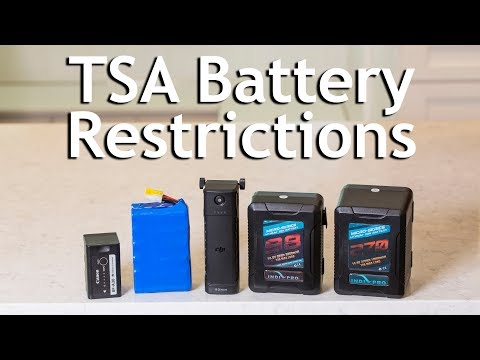 TSA Battery Restrictions - Flying with Lithium Ion