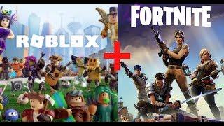 FORTNITE + ROBLOX = ROBLOX BATTLE ROYALE