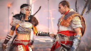 Suddenly... Hot-Pants Aya Appears to Save Crucified Bayek + The Rest of the Hidden Ones DLC