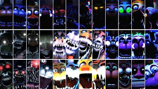 FNAF AR - 1 2 3 4 5 6 UCN Jumpscare Animations