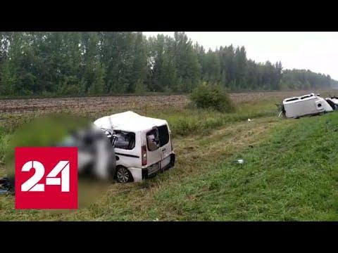 Погибли пять человек: в Тамбовской области столкнулись два микроавтобуса - Россия 24