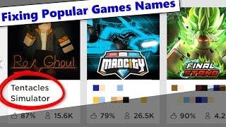Fixierung beliebter Roblox-Spiele-Titel