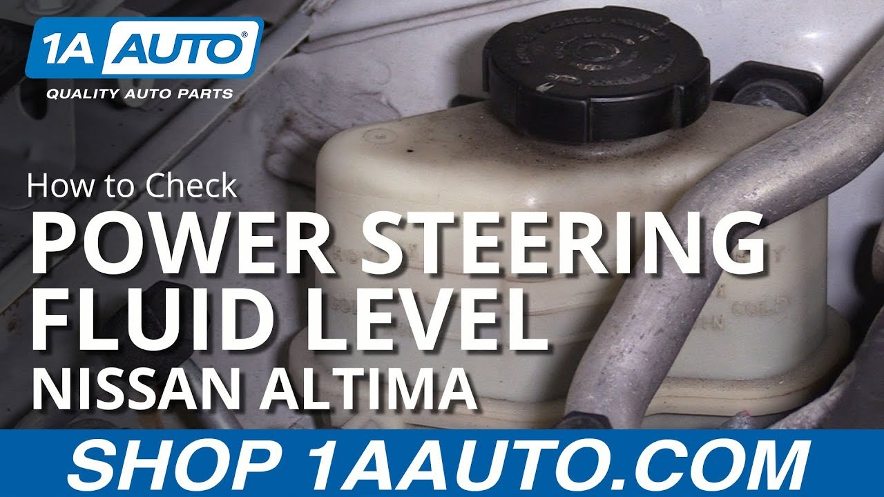 Check Power Steering Fluid >> How To Check Power Steering Fluid Level 06 12 Nissan Altima