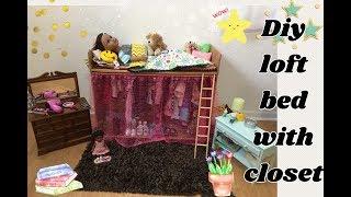 Video DIY cardboard loft bed with closet 18inch doll furniture Journey girl AG download MP3, 3GP, MP4, WEBM, AVI, FLV Agustus 2018