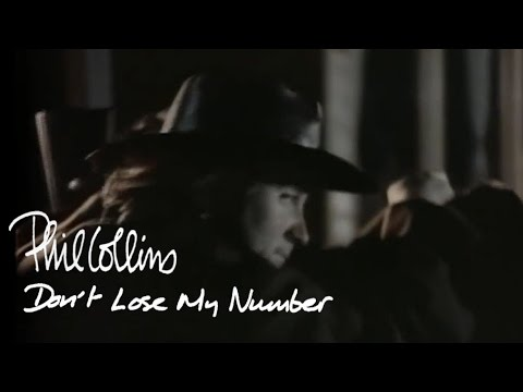 Phil Collins - Don't Lose My Number (Official Music Video)