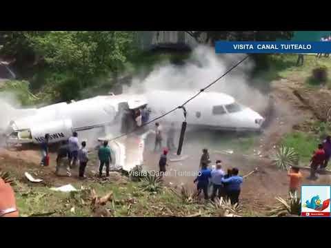 Se estrella Avión privado de Estados Unidos en Tegucigalpa Honduras Video Accidente