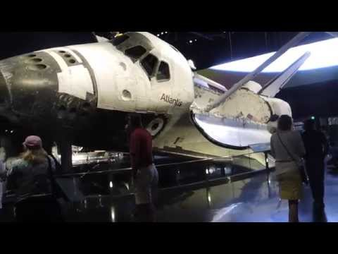 Space Shuttle Atlantis Exhibit full pre-show and walkaround at Kennedy Space Center