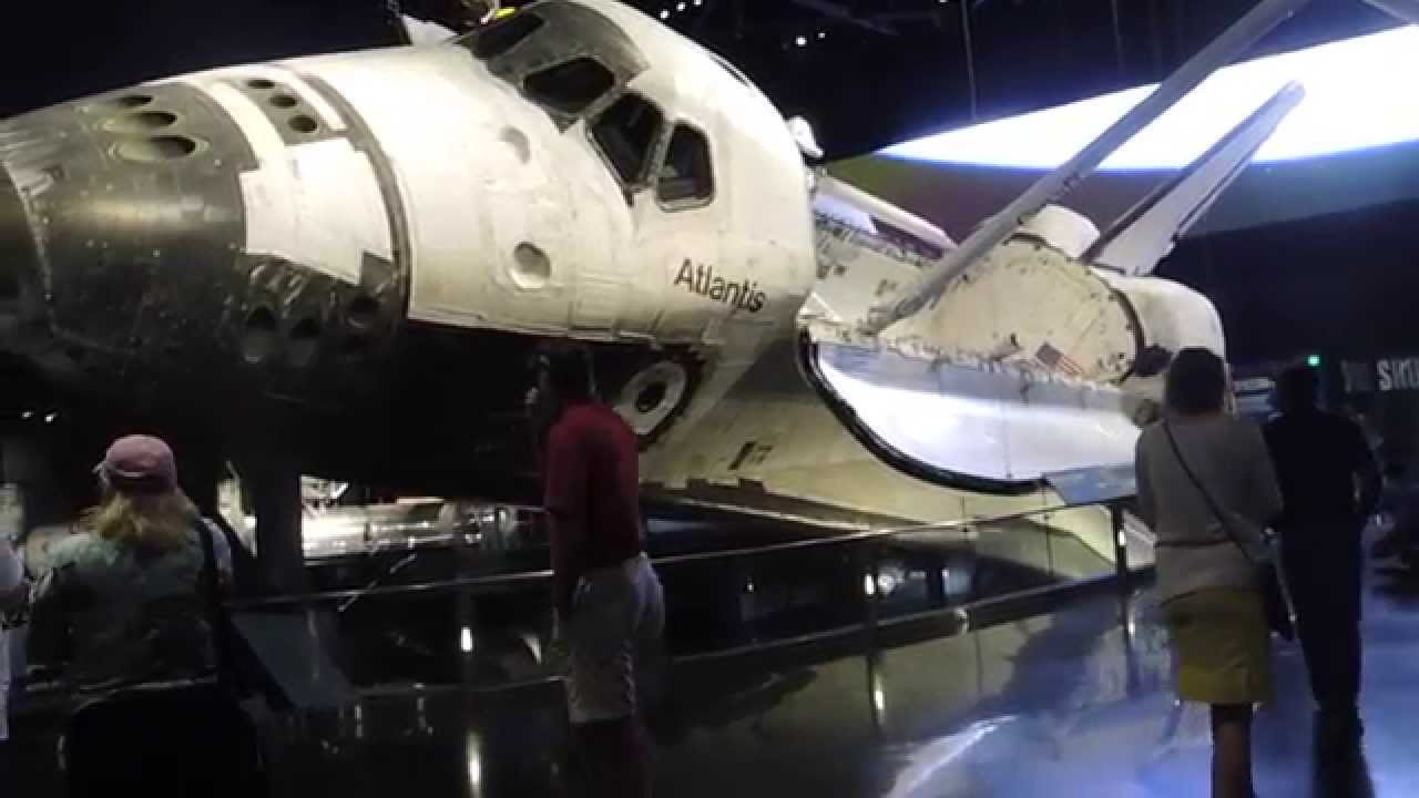Space Shuttle Atlantis Exhibit full pre-show and ...